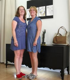 Stephanie & Mairead Rapazas Ela Diz  Dresses by Mado et les autres, clogs by Eferro