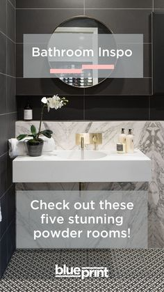 As a room that's constantly frequented, the powder room can have a large impact on guests, and as these real Aussie projects will attest to, they can pack a lot of personality despite their size. Grey Bathrooms, Beautiful Bathrooms, Small Bathroom, Bathroom Doors, Bathroom Inspo, Bathroom Ideas, Reece Bathroom, Modern Powder Rooms, Living Room Grey