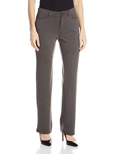 Lee Womens Comfort Fit Callie Knit Straight Leg Pant Heather Gray 4Medium ** Check this awesome product by going to the link at the image.