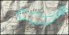 #Ruta SIETE PICOS NOCTURNA. Mapa y recorrido de la carrera nocturna. #Sierra de #Guadarrama