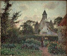 Camille Pissarro - The Church in Knocke (Belgium)