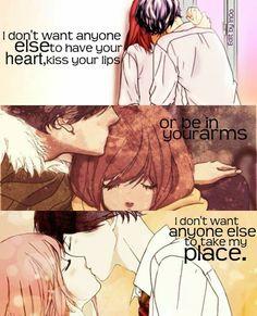 Anime:Ao haru ride (c)owner Sad Anime Quotes, Manga Quotes, Anime Love Couple, Cute Anime Couples, Futaba Y Kou, Ao Haru, Blue Springs Ride, Sailor Moon, All The Bright Places