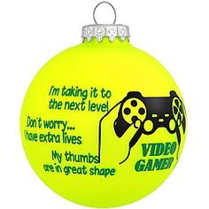 video gamer ornament #sayings #ornament #Christmas $8.99