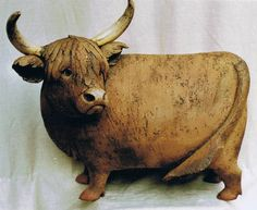 Kühe aus Ton für Haus und Garten