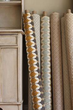Pattern Play: Wallpaper, Textiles, and Tiles by Akin & Suri - Remodelista Pottery Patterns, Textile Patterns, Textile Design, Fabric Design, Pattern Design, Textiles, Scandinavian Fabric, Geometric Fabric, Geometric Wallpaper