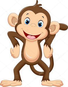 Illustration about Illustration of cute monkey cartoon. Illustration of cartoon, nature, brown - 64984497 Cartoon Cartoon, Cartoon Faces, Cartoon Drawings, Animal Drawings, Cartoon Monkey Drawing, Jungle Cartoon, Jungle Animals, Baby Animals, Cute Animals