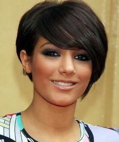 short hairstyles for women with thick hair and round face