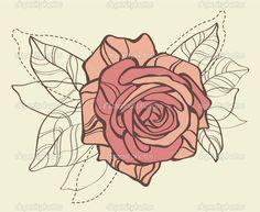 rosa stilizzata vettoriale - Cerca con Google