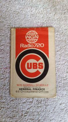 1976 Chicago Cubs pocket schedule