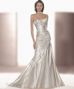 could i get away with a silver wedding dress? If i could....this would be the one