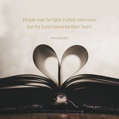 """Every way of a man is right in his own eyes: but the Lord pondereth the hearts."" ‭‭Proverbs‬ ‭21:2‬ ‭KJV‬‬ http://bible.com/1/pro.21.2.kjv"
