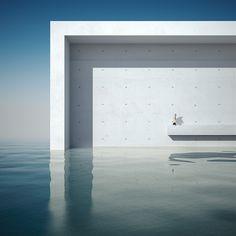 Michele Durazzi's Surreal Minimalist Architecture Series 'What is metaphysics?' I - II Nature Architecture, Architecture Images, Minimalist Architecture, Futuristic Architecture, Architecture Details, Interior Architecture, Interior Design, Minimalist Design, Design Art