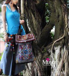 New Folk style embroidery bags/messenger canvas bags / handmade handbags  No.1008-4