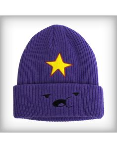 Adventure Time 'Lumpy Space Princess' Knit Hat - The officially licensed Adventure Time 'Lumpy Space Princess' Knit Hat is a purple winter cap not only features embroidered character graphics, includ Cute Comfy Outfits, Stylish Outfits, Cool Outfits, Fashion Outfits, Kawaii Clothes, Diy Clothes, Lumpy Space Princess, Trendy Hoodies, Mode Chanel
