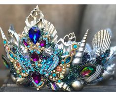 Mermaid Crowns, Headdresses, Fascinators, Hats, Tiaras by ScarletHarlow Mermaid Costume Makeup, Mermaid Cosplay, Mermaid Costumes, Mermaid Headpiece, Mermaid Crown, Woman Costumes, Couple Costumes, Group Costumes, Adult Costumes