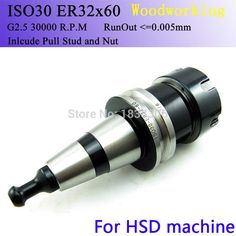 milling cuter drill bit Collet Chuck ISO30 ER32-60L CNC Tool Holder G2.5 30000 RPM With Pull Stud Milling Lathe turning Tools