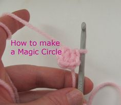 The easy way to crochet a magic circle. I've looked at many. I like this best. Made them over and over.