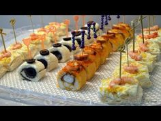 60th Birthday Party, Appetizer Dips, Recipe For 4, Finger Foods, Catering, Sushi, Sandwiches, Brunch, Food And Drink