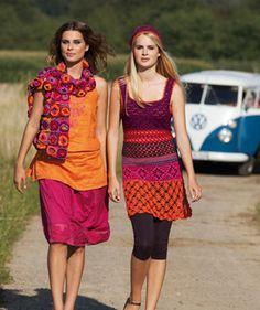 Damen-Häkelkleid & Mütze http://de.schachenmayr.com/patterns/damen-h%C3%A4kelkleid-m%C3%BCtze