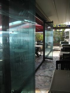 glass door for bed room and restaurant