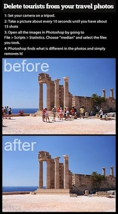 Remove Tourists From Travel Photos