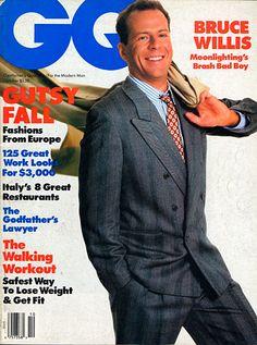 Bruce Willis for GQ, October 1986