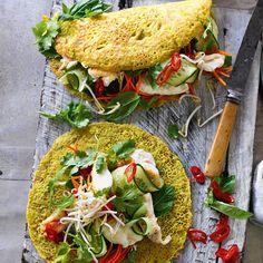 Vietnamese pancakes with fish Wine Recipes, Indian Food Recipes, Asian Recipes, Great Recipes, Vegetarian Recipes, Healthy Recipes, Ethnic Recipes, Vietnamese Pancakes, Vietnamese Recipes