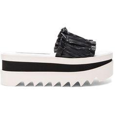 Stella McCartney Slide Platforms ($625) via Polyvore featuring shoes, sandals, stella mccartney, stella mccartney sandals, platform shoes, synthetic shoes and stella mccartney shoes
