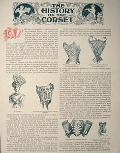 1896 History of the Corset Antique Article & Ads, Vintage Clothing & Accessory Ads
