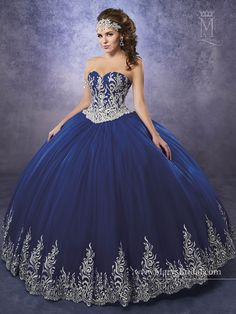 Shop for the latest 2020 Quinceanera dresses at ABC Fashion. Fall in love with these beautiful Sweet 15 gowns and find your dream dress today. Navy Blue Quinceanera Dresses, Charro Quinceanera Dresses, Prom Dresses, Evening Dresses, Sweet 15 Dresses, Pretty Dresses, Vestido Charro, Dress Websites, Quince Dresses