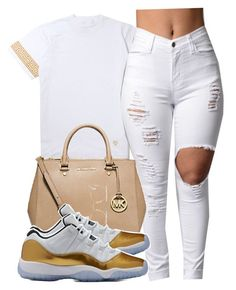 """""""I'm back"""" by alexanderbianca ❤ liked on Polyvore featuring Michael Kors and Ray-Ban"""