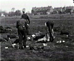 Collecting the parcels from the Allied plane from the fields near Rotterdam, the Netherlands.
