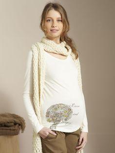 Camiseta estampada Colline para premamá, Premamá