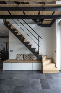 Ideas Stairs Design Metal Wooden Ideas Stairs Design Metal Wooden Staircases 44 chic indoor home staircase design ideas for your home 6 Wooden Staircase Design, Loft Staircase, Staircase Railings, Wooden Staircases, House Stairs, Stairs To Mezzanine Floor, Wood Railing, Stair Design, Staircase Ideas