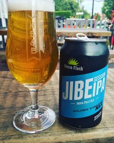 """""""Sitting in my go to spot for a champion brew. Ignore the traffic and the banging and I could lose a day here easy.  Nice easy start with a super clean session IPA from @greenflashbeer."""" via 2gueuze1cup on Instagram"""