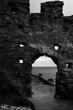 Tintagel Castle Doorway by Caroline Voaden