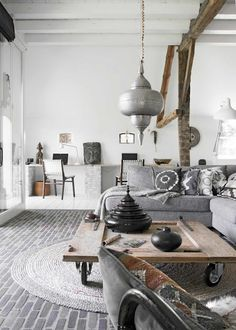 Farmhouse/Global/Bohemian interior design. Get pieces of all these styles at MIX!