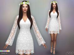 Bohemian wedding dress for the sims 4 by beo vestidos de noiva boêmio, sims Sims 4 Wedding Dress, Luxury Wedding Dress, Bohemian Wedding Dresses, Sims 4 Mods, Sims 4 Cc Skin, Sims Cc, Sims4 Clothes, Sims 4 Dresses, Sims 4 Cc Packs