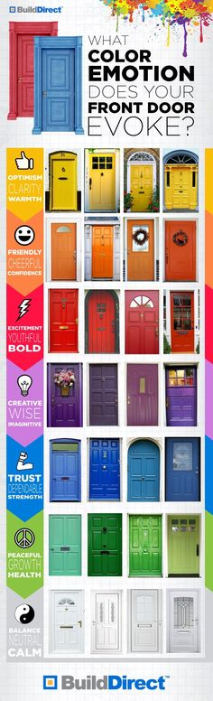What color emotion does your front door evoke? I really want a yellow door! #infographic