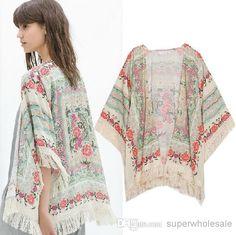 Best Vintage Retro Womens Boho Hippie Loose Style Kimono Coat Cape Blazer Jacket Online with $17.81/Piece   DHgate
