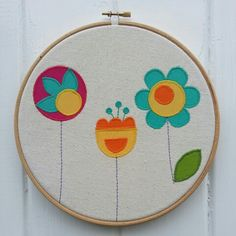 Colour Pop Embroidery Hoop Wall Decal. Handmade by Emy & Wilma.