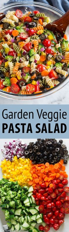 Garden Veggie Pasta Salad - just like what mom made! So easy and so good! Garden Veggie Pasta Salad - just like what mom made! So easy and so good! via Jaclyn {Cooking Classy} Easy Pasta Salad Recipe, Pasta Recipes, Cooking Recipes, Hotdish Recipes, Coctails Recipes, Dishes Recipes, Broccoli Recipes, Recipes Dinner, Vegetarian Recipes