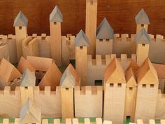 towers, fortress, wood, toy, wooden toys