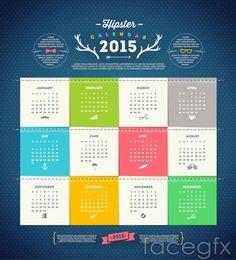 15 Free 2015 Vector Calendar Design Templates