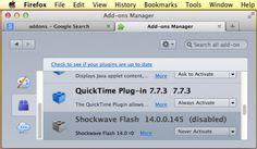 Verificate lo stato per Shockwave Flash