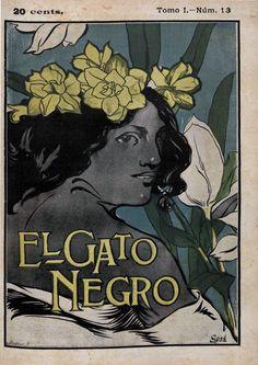 https://flic.kr/p/KJU27V | 1898_04_09 GATO NEGRO | Coberta El Gato Negro. Barcelona, Tomo I (09/04/1898), núm. 13, coberta i p. s/n, col.