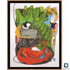 Homme savant : acrylique et glycéro sur papier blanc cartonné de format 50x65cm - pièce unique - Oeuvre de Valérie Brand. Encadrée par www.leboncadre.com avec une caisse américaine noir et filet doré de format intérieur 50,5 x 65,5 cm. Prix de l'oeuvre : non indiqué. Prix du cadre : 86,40€