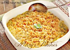 "Mary's Potatoes - ""party potatoes"" without cheese"