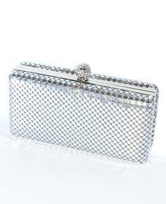 Shop InStyle Boutique Metal Mesh Box Clutch Silver $36