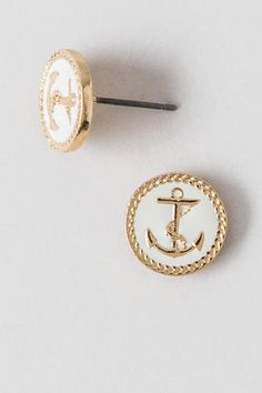 Enamel Anchor Studs for the Lakers